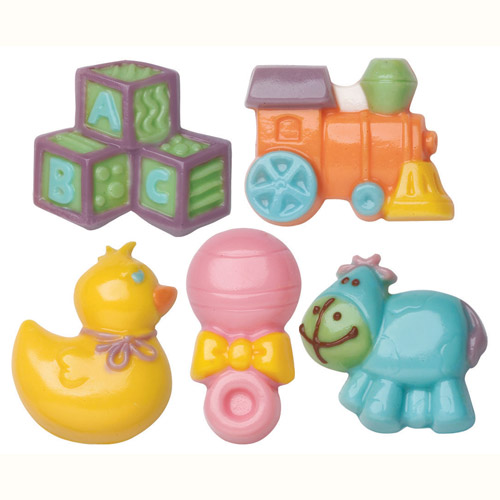 pics photos wilton baby 2 pack candy mold shower favor toys blocks